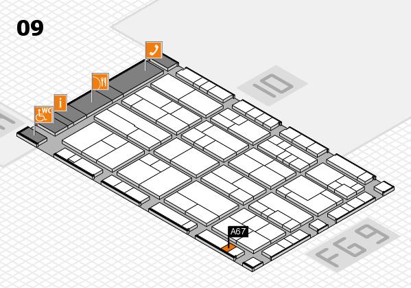 K 2016 Hallenplan (Halle 9): Stand A67