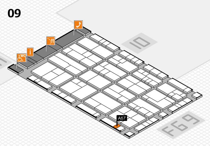 K 2016 hall map (Hall 9): stand A67