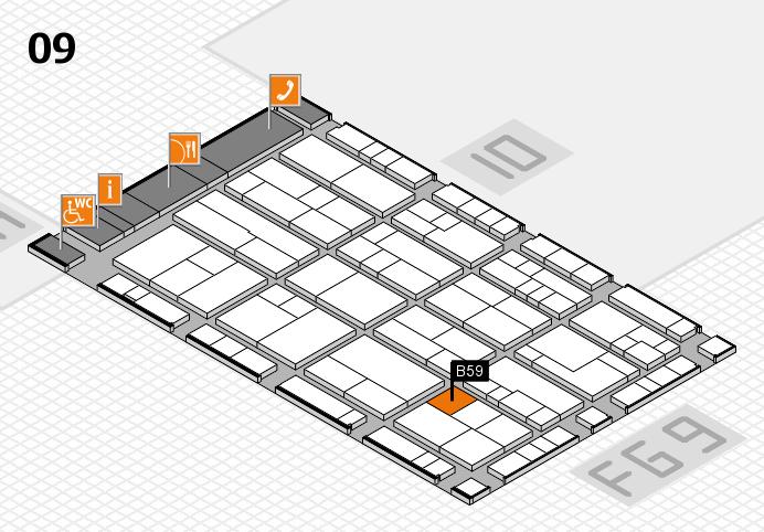 K 2016 Hallenplan (Halle 9): Stand B59