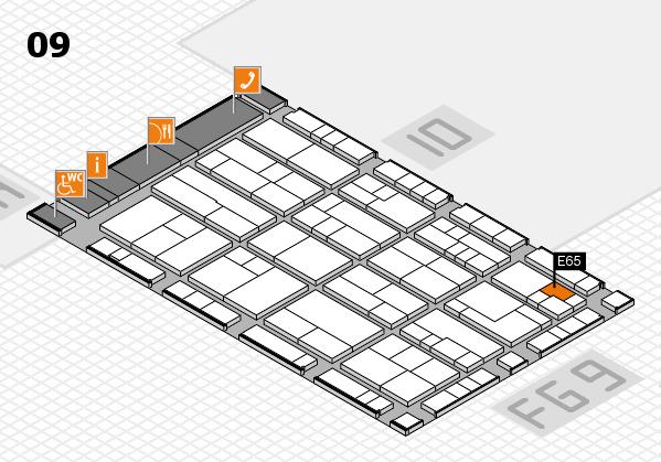 K 2016 hall map (Hall 9): stand E65