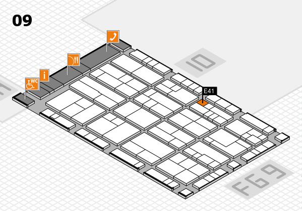 K 2016 hall map (Hall 9): stand E41