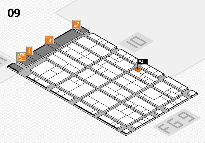 K 2016 Hallenplan (Halle 9): Stand E41