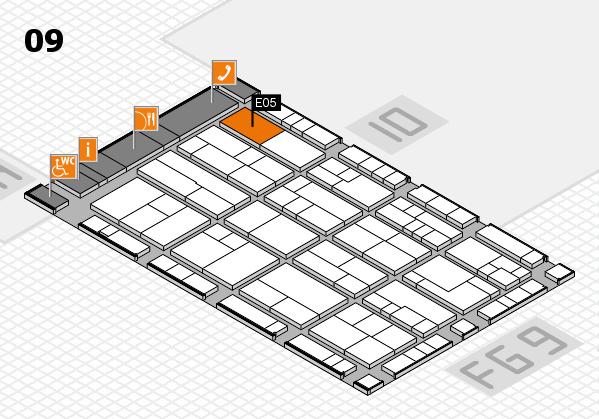 K 2016 Hallenplan (Halle 9): Stand E05
