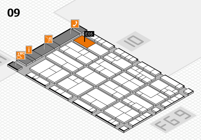 K 2016 hall map (Hall 9): stand E05