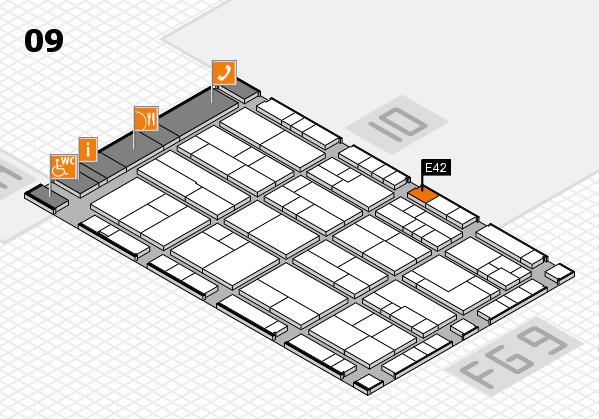 K 2016 hall map (Hall 9): stand E42