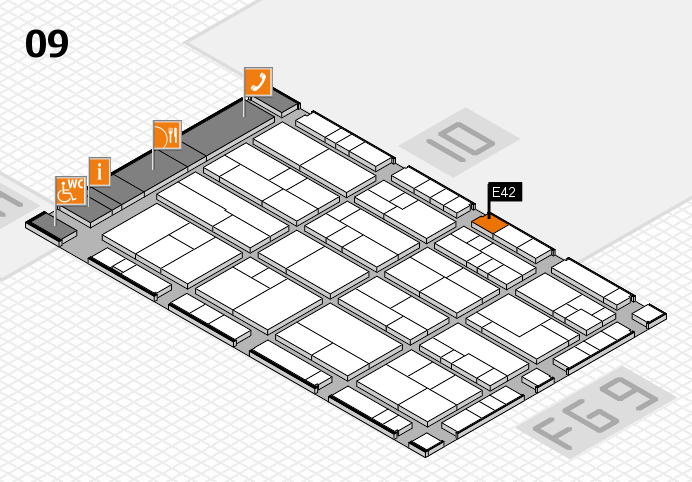 K 2016 Hallenplan (Halle 9): Stand E42