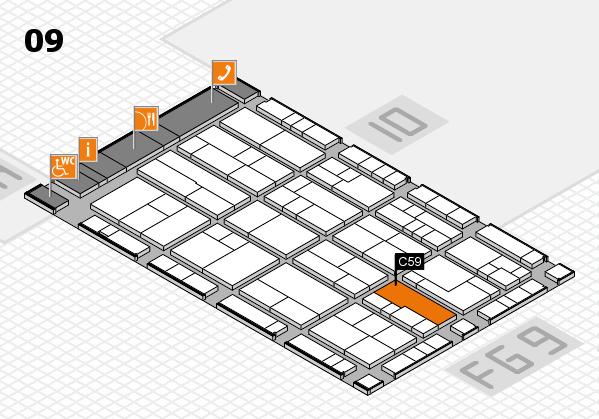 K 2016 hall map (Hall 9): stand C59