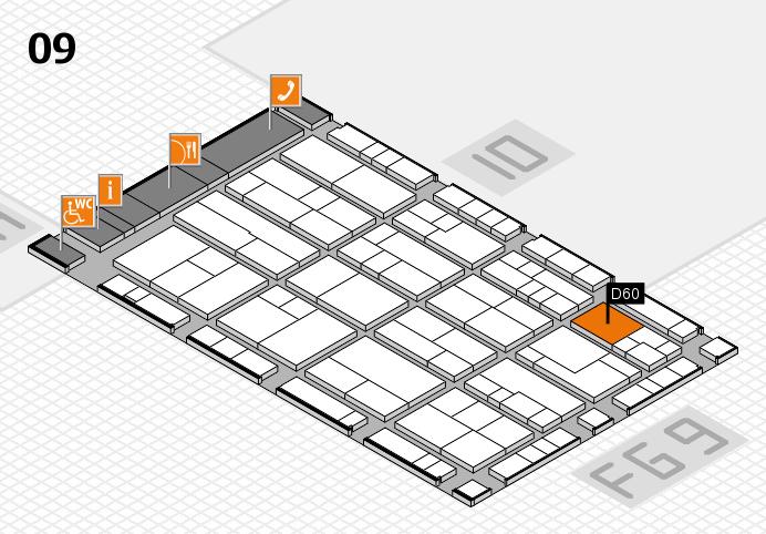 K 2016 Hallenplan (Halle 9): Stand D60