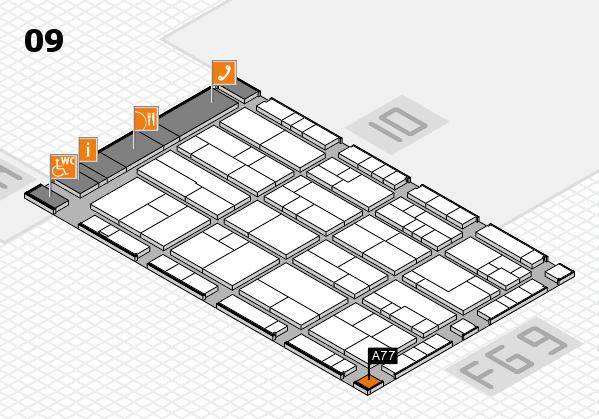 K 2016 hall map (Hall 9): stand A77