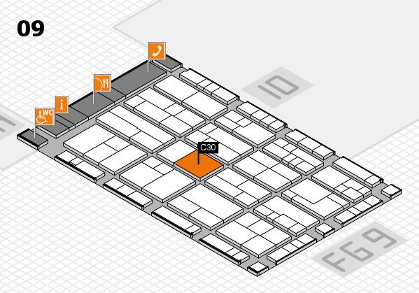 K 2016 hall map (Hall 9): stand C30
