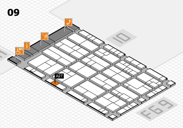 K 2016 hall map (Hall 9): stand A27