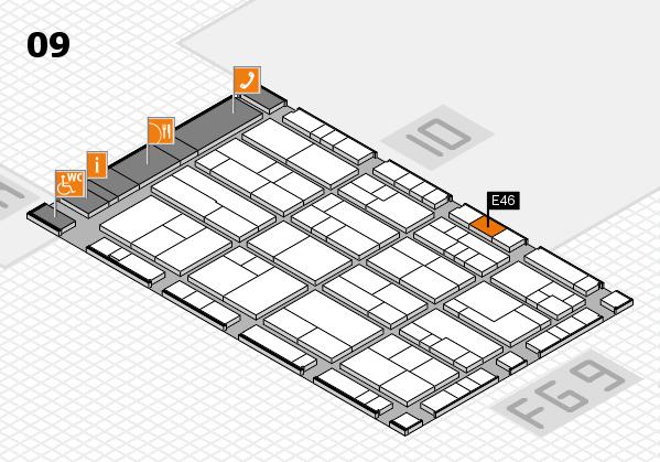 K 2016 Hallenplan (Halle 9): Stand E46
