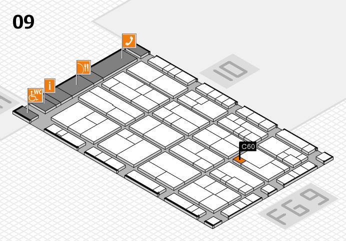 K 2016 hall map (Hall 9): stand C60
