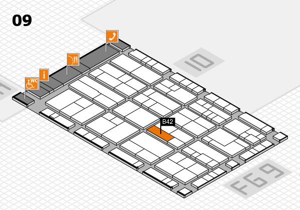 K 2016 hall map (Hall 9): stand B42