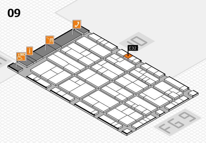 K 2016 hall map (Hall 9): stand E32
