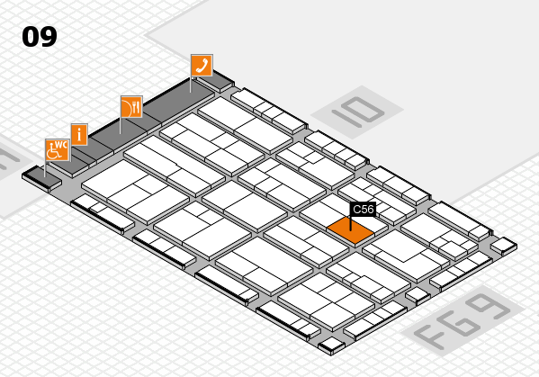 K 2016 hall map (Hall 9): stand C56