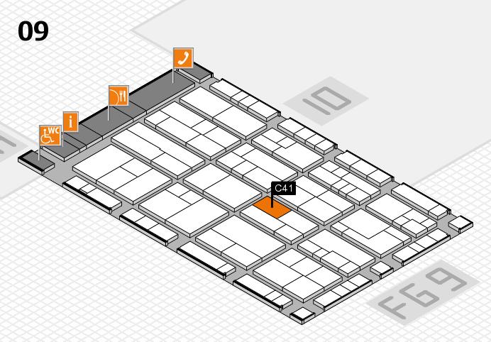 K 2016 hall map (Hall 9): stand C41