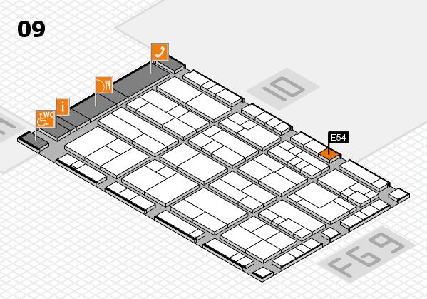 K 2016 hall map (Hall 9): stand E54