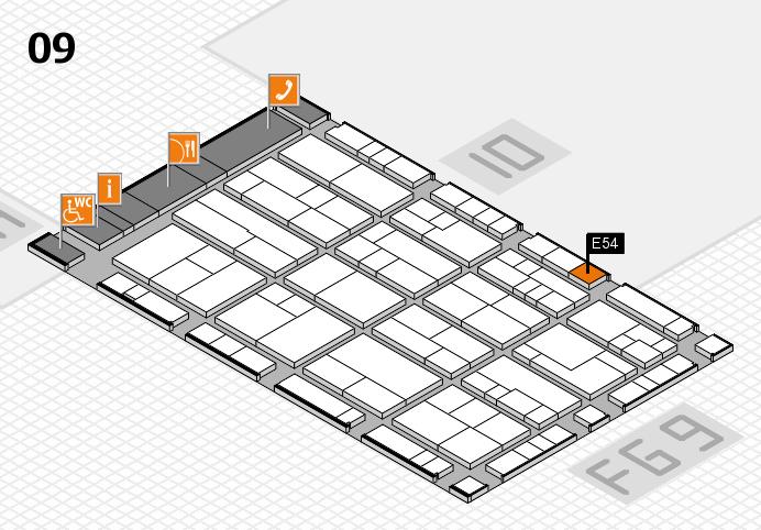 K 2016 Hallenplan (Halle 9): Stand E54