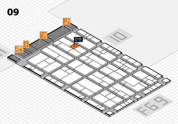K 2016 hall map (Hall 9): stand D15