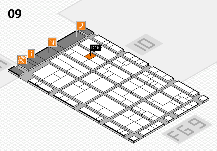 K 2016 Hallenplan (Halle 9): Stand D15