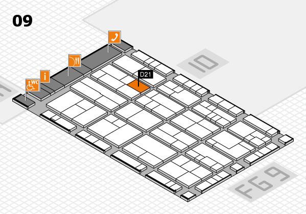 K 2016 hall map (Hall 9): stand D21