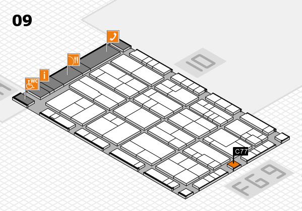 K 2016 hall map (Hall 9): stand C77