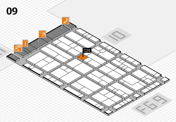 K 2016 hall map (Hall 9): stand C24