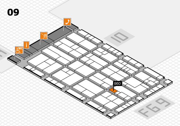 K 2016 hall map (Hall 9): stand B60