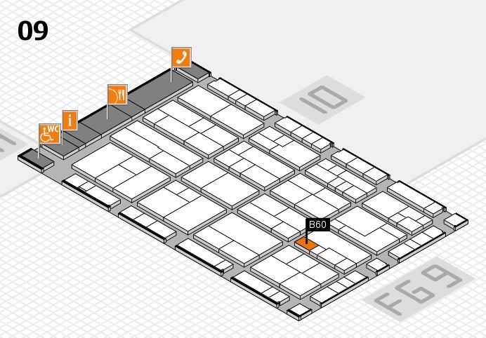 K 2016 Hallenplan (Halle 9): Stand B60