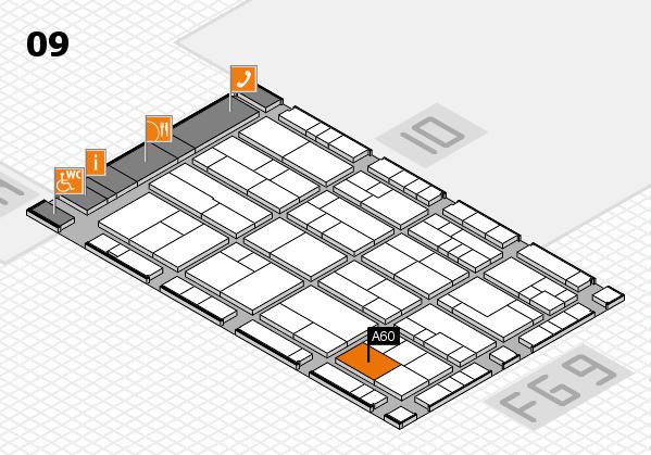 K 2016 hall map (Hall 9): stand A60