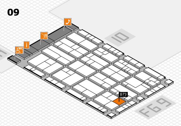K 2016 hall map (Hall 9): stand B73