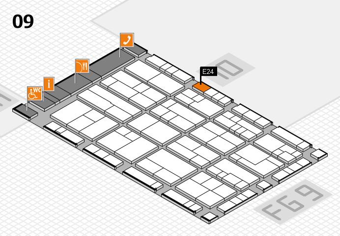 K 2016 hall map (Hall 9): stand E24