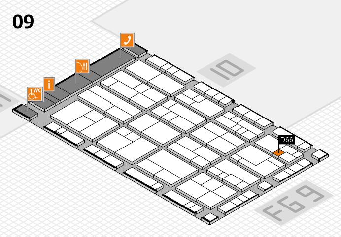 K 2016 hall map (Hall 9): stand D66