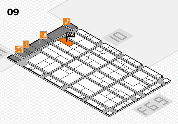 K 2016 Hallenplan (Halle 9): Stand D05