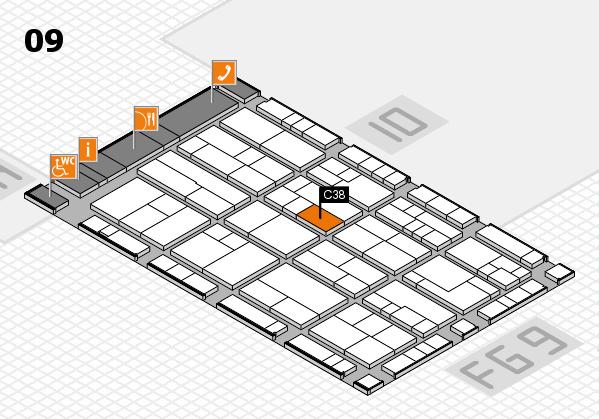 K 2016 hall map (Hall 9): stand C38