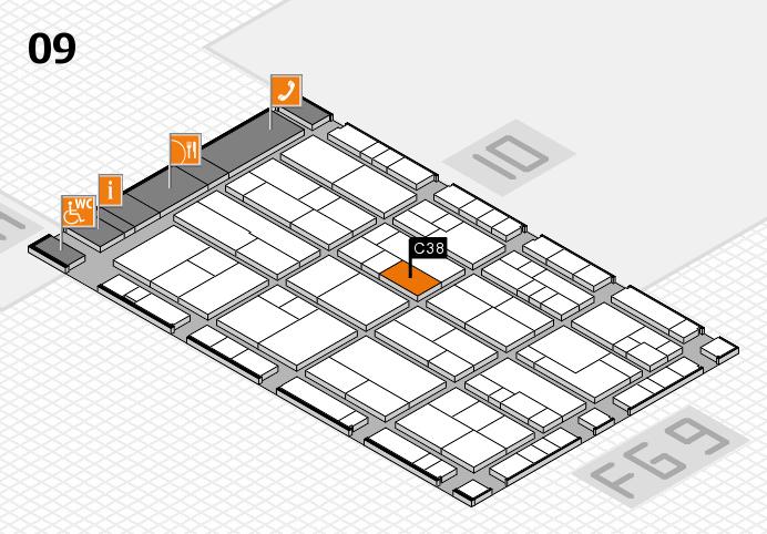 K 2016 Hallenplan (Halle 9): Stand C38
