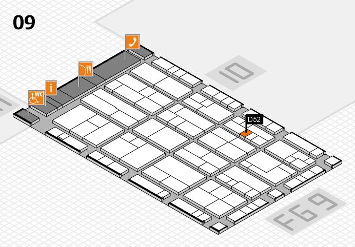 K 2016 hall map (Hall 9): stand D52