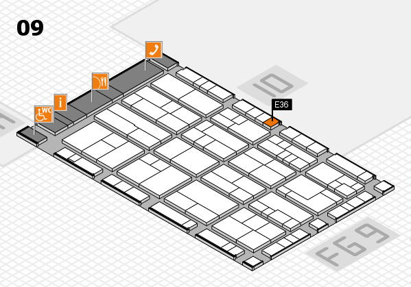K 2016 Hallenplan (Halle 9): Stand E36