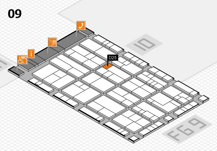 K 2016 hall map (Hall 9): stand D25