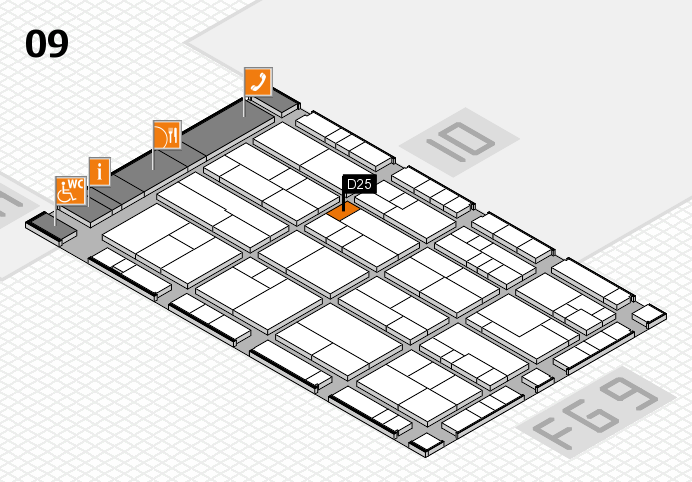K 2016 Hallenplan (Halle 9): Stand D25