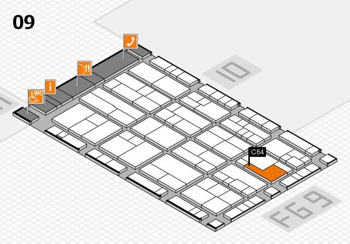 K 2016 hall map (Hall 9): stand C64