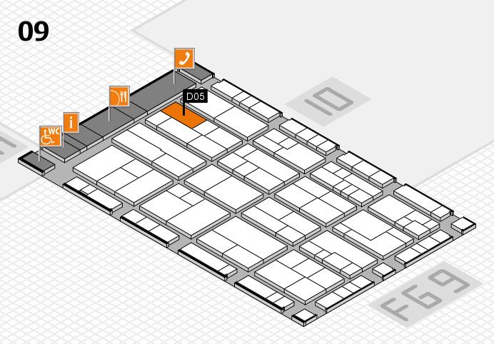 K 2016 hall map (Hall 9): stand D05