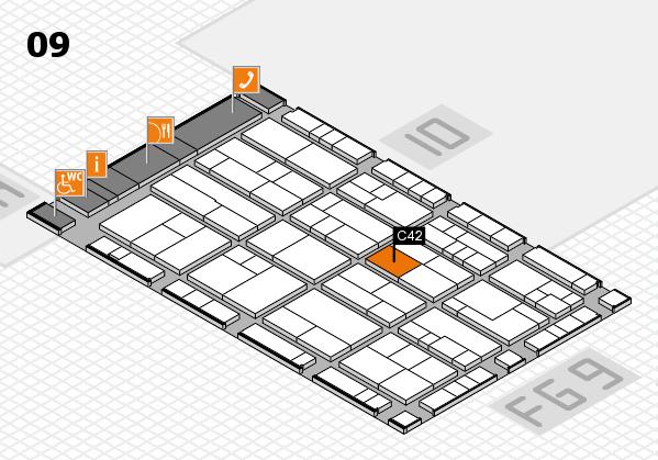K 2016 hall map (Hall 9): stand C42