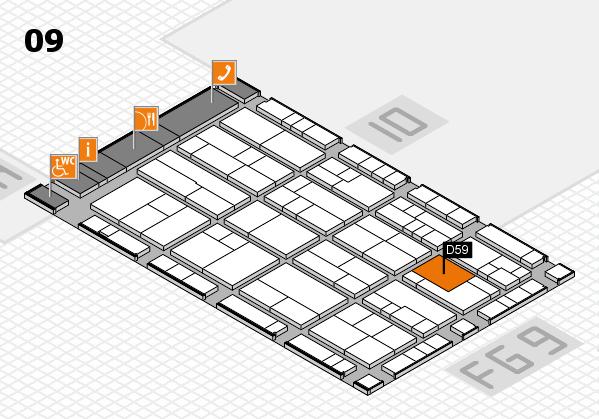 K 2016 hall map (Hall 9): stand D59