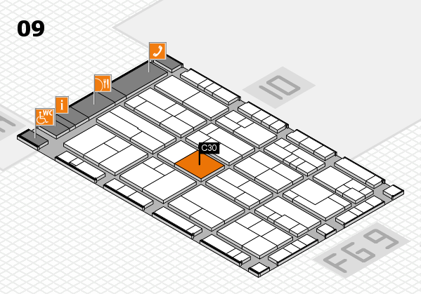 K 2016 Hallenplan (Halle 9): Stand C30