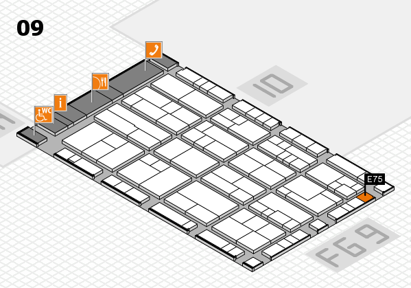 K 2016 hall map (Hall 9): stand E75