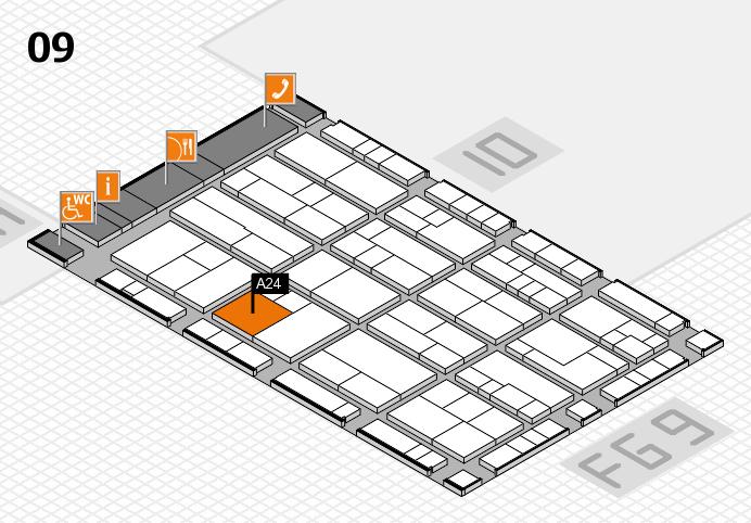 K 2016 hall map (Hall 9): stand A24