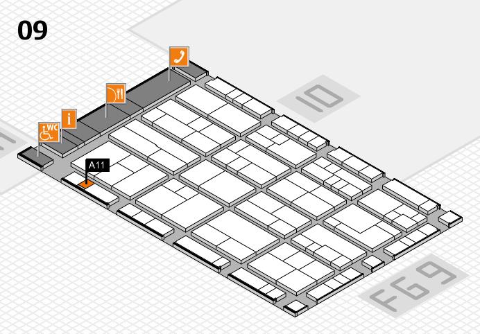 K 2016 Hallenplan (Halle 9): Stand A11