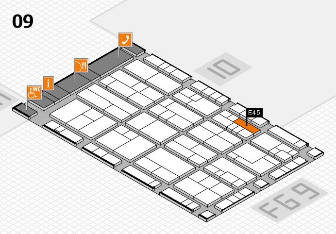 K 2016 Hallenplan (Halle 9): Stand E45
